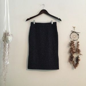 Madewell Navy Blue White Speckles Pencil Skirt XS